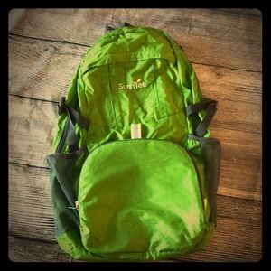 Lime green, light weight, packable backpack